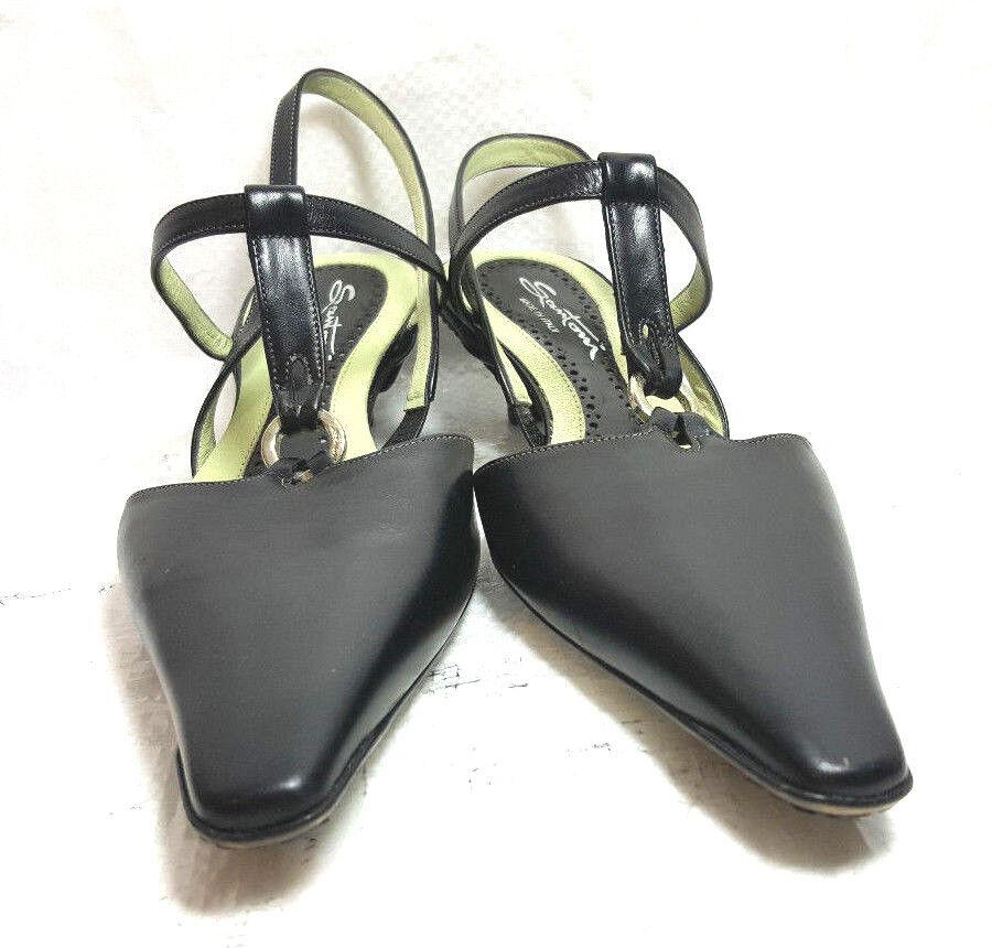 incentivi promozionali SANTONI donna scarpe slingback kitten kitten kitten heels US6 EU 36M nero leather solid NWOB  negozio online