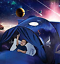 Children-Fantasy-Dream-Tents-Space-Adventure-Fits-all-Twin-Beds-3 thumbnail 1
