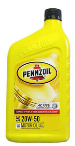 pennzoil 20w 50 mineral engine oil us quart ebay. Black Bedroom Furniture Sets. Home Design Ideas