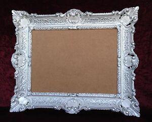 cadre d 39 image art nouveau blanc argent ancien rectangulaire 56x46 baroque 30x40 ebay. Black Bedroom Furniture Sets. Home Design Ideas