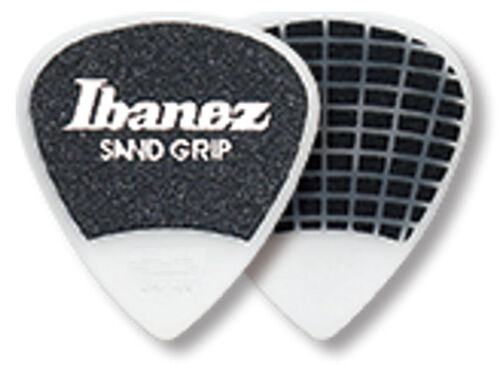 Grip Wizard 6er Pack Ibanez Sandgrip Plektren PA16HSG-WH 1,0 mm weiß