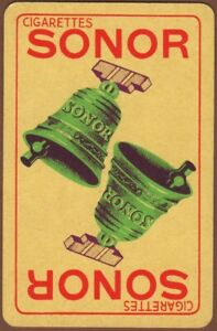 Playing-Cards-1-Single-Card-Old-SONOR-CIGARETTES-Advertising-Art-Tobacco-BELLS
