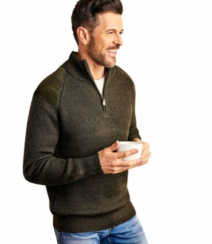 WoolOvers Mens Pure Wool Hill Walker Sweater Warm Jumper Top