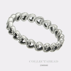 4c5feb8c7f8e1 Details about Authentic Pandora Sterling Silver Linked Love Ring Size (7.5)  190980-56