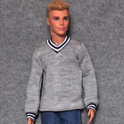 """Handmade doll white beanie for 1//6 dolls 12/"""" ken dolls"""