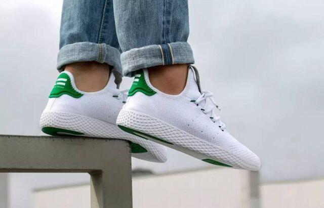 Pharrell x adidas Tennis Hu White Green | BA7828