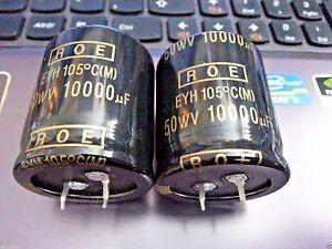 10pcs NEW ROE EYN 10000uf 50v 85C 30x45mm HI END AUDIO CAPS!