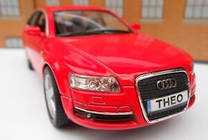 Personalised plates audi a6 red toy car model boy dad birthday image is loading personalised plates audi a6 red toy car model negle Images