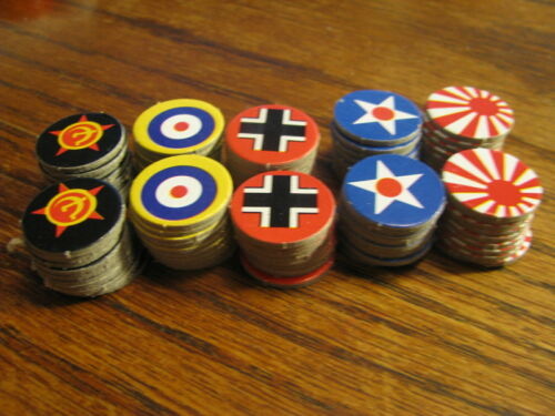 Axis /& Allies Spring 1942 Replacement 100 Control Markers      #TV 2A