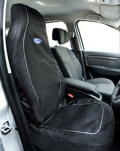 Richbrook-039-Official-Licensed-039-Ford-Logo-Front-Car-Seat-Cover-Protector-BLACK