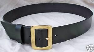 2-5-034-Wide-Premium-Leather-Belt-w-Solid-Brass-Buckle-Santa-Claus-PIRATE-Western