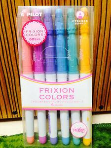 Pilot-Frixion-Colors-Erasable-Marker-Pens-6-Pastel-Colors