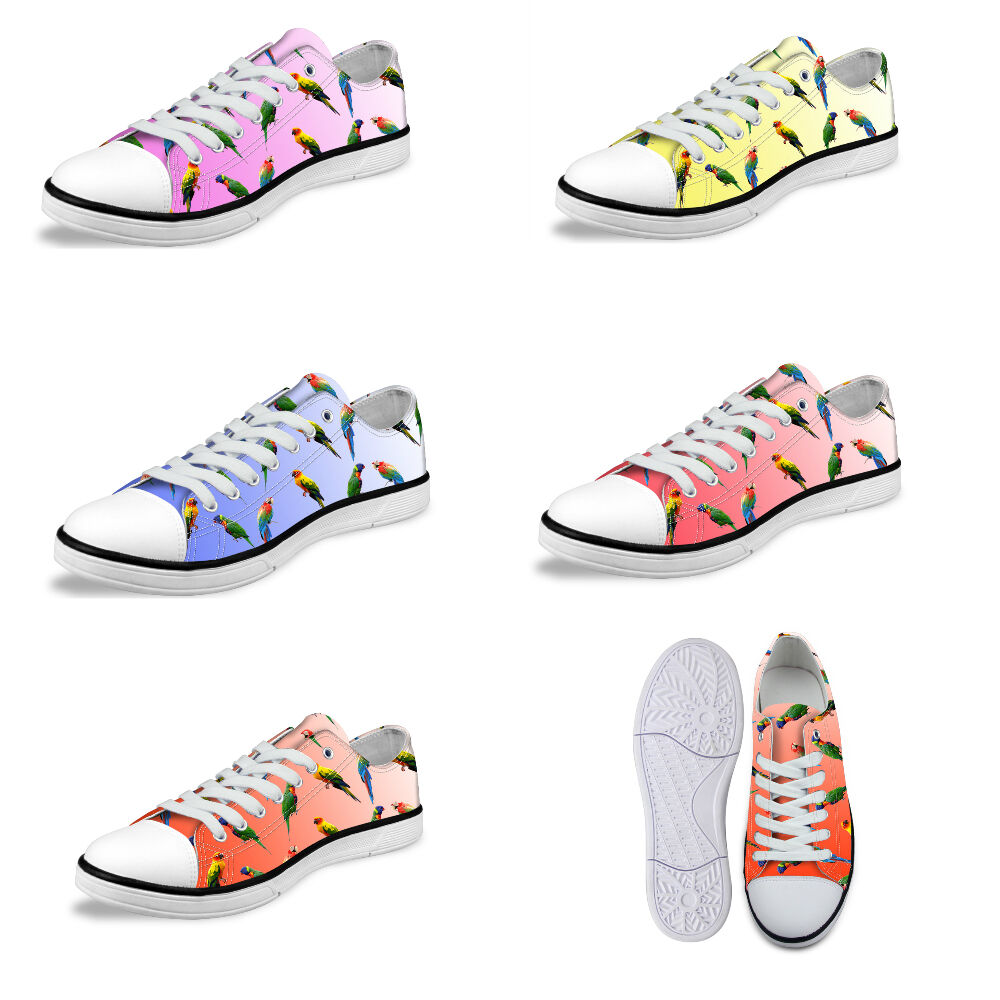 Parred Print Women's Low Top Canvas shoes Fashion Sneakers Casual Sports shoes