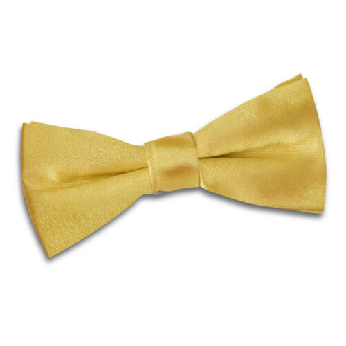 Boys Bow Tie Satin Solid Plain Formal Casual Wedding Adjustable Pretied by DQT