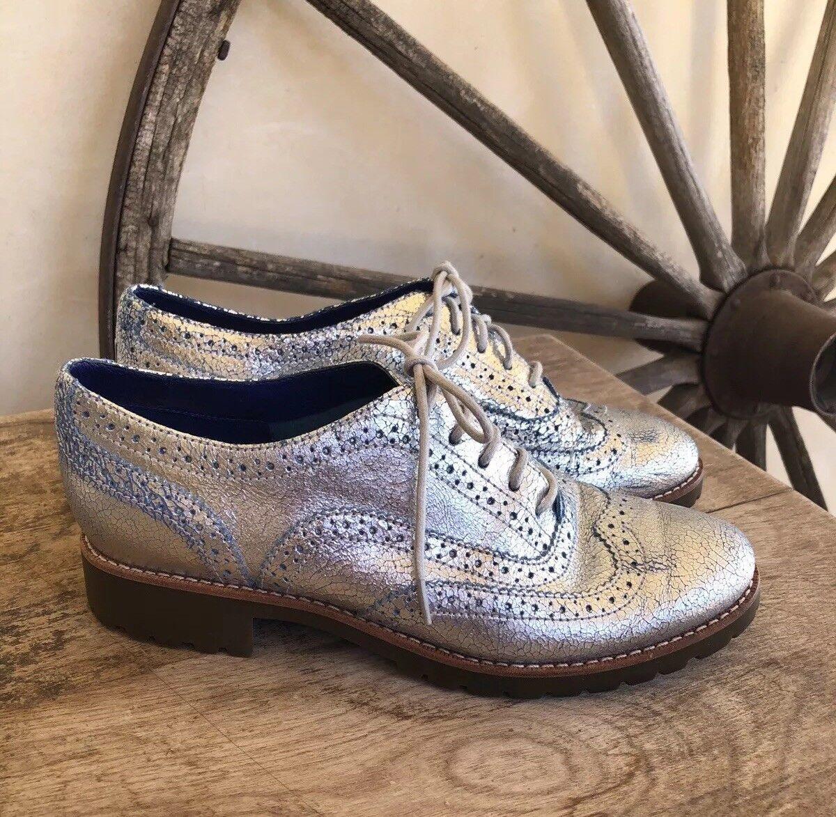 Sperry Top-Sider Con Cordones Oxford Zapatos Zapatos Zapatos Cuero Calado Punta De Ala-una vez usado 7M  promocionales de incentivo