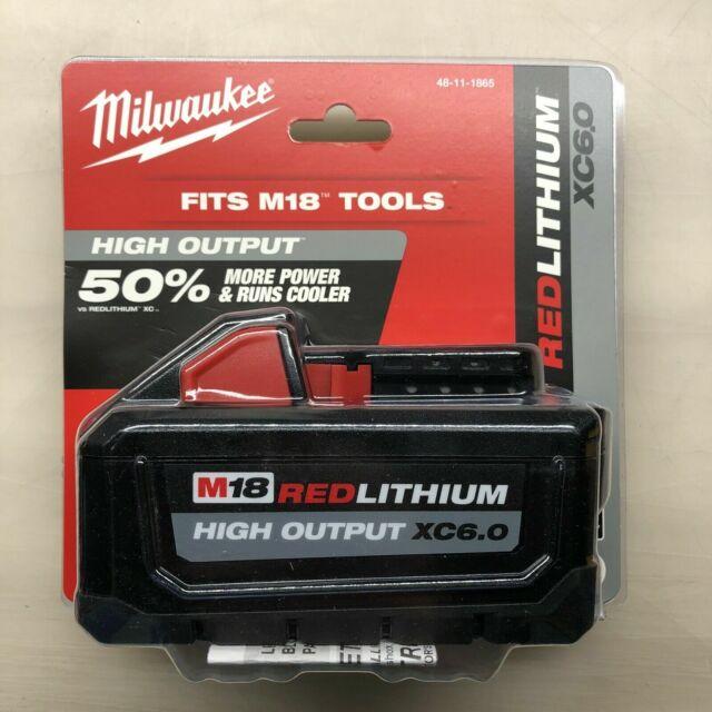 Milwaukee M18 REDLITHIUM HIGH OUTPUT XC6.0 Battery Pack - 48-11-1865
