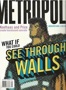 METROPOLIS APRIL 2001 GARY PANTER FEATURE ARTICLE - BEN KATCHOR COMIC - DESIGN
