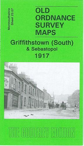 OLD ORDNANCE SURVEY MAP GRIFFITHSTOWN SOUTH SEBASTOPOL 1917 MARY ST PENYRHEOL