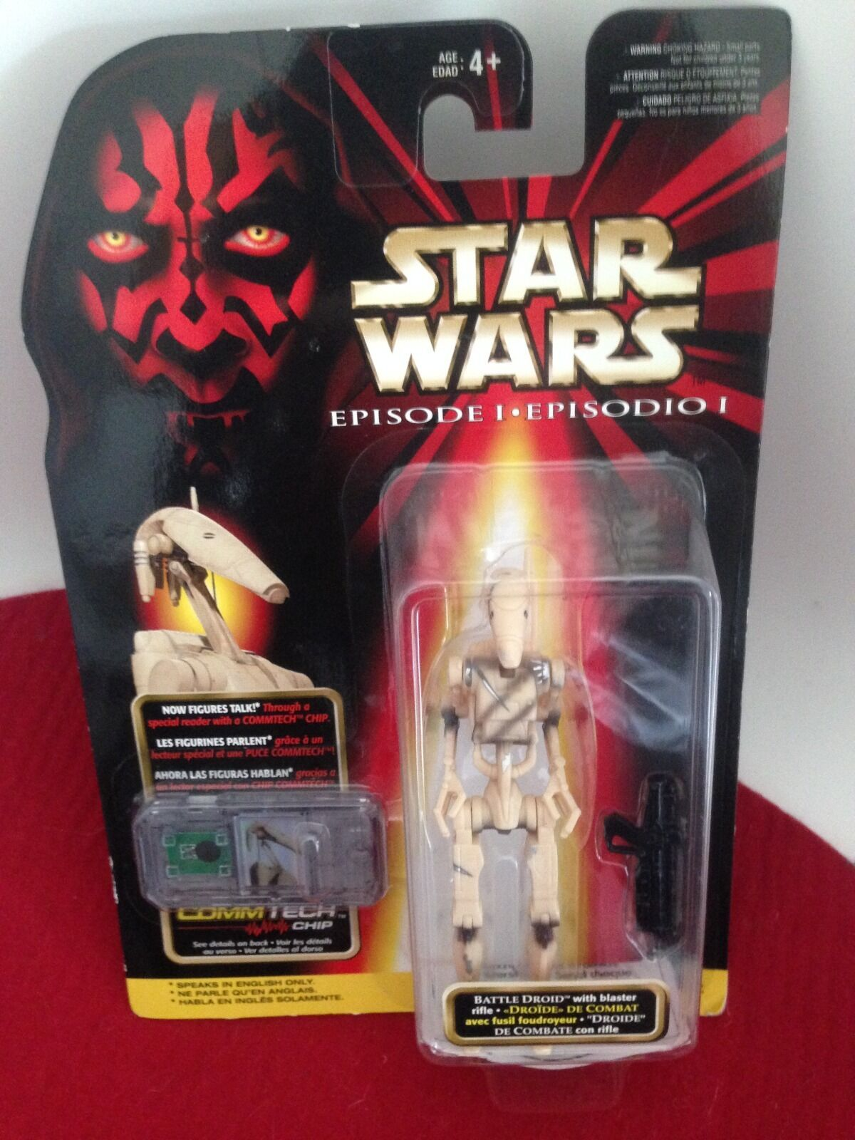 StarWars figurine : Star Wars Vintage RARE figurine BATTLE DROID sous blister