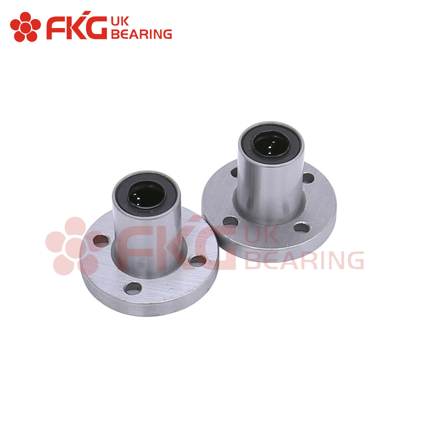 LMF10UU Round Flange Lineer Bushing Bearing with Rubber Seals 10x19x29mm