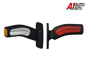 2x-Smd-Angel-Led-24v-Side-Rubber-Marker-Lights-Lamp-Outline-Trailer-Truck-6