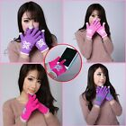 Touch Screen Gloves Women/Men Knitted Wool Hand Wrist Warmer Fingerless Winter N