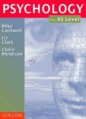 1 of 1 - Very Good, Psychology - Psychology for AS-Level, Mike Cardwell, Liz Clark, Clair