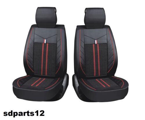 Per BMW Lancia Opel Coprisedili Nero Rosso Similpelle Tessuto Set Completo Lusso