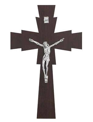 Crocifisso In Legno Wenge Particolare Croce Doppia Sagomata H Da 34 A 47 Cm Ebay