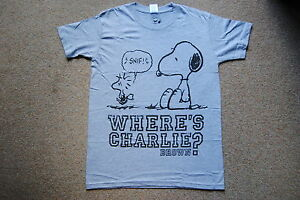 Peanuts Friends Charlie Brown Snoopy Woodstock Lucy ‎Mens Tee V-Neck T-Shirt