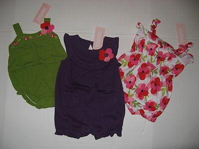 Gymboree TROPICAL PETALS Baby Girls size 3 6 m 1 piece Bubble  Romper NWT U PIC