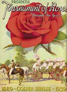 1939 Tournament of Roses Program rose bowl