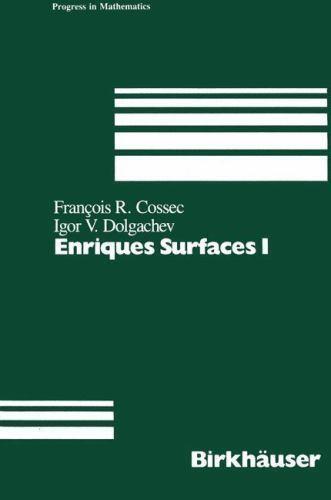 Enriques Surfaces I (Progress in Mathematics), , Dolgachev, Cossec, F., Very Goo