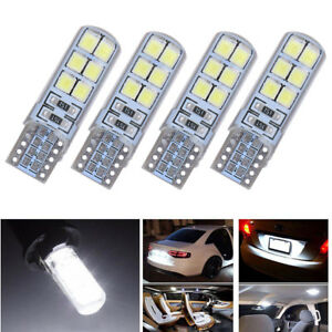 10Pcs White LED Can Bus Error Free Silica Width Lamp Xenon T10 12SMD 2835 6000K~