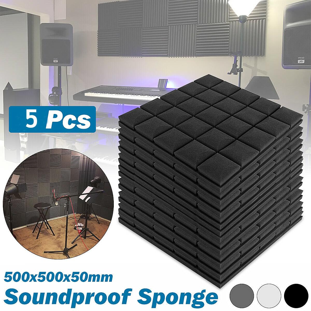 5 10 20 50505cm Square Acoustic Panels Studio Soundproofing Foam Wedge Tiles