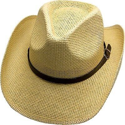 KöStlich James Dean Cowboy Hut Sand Strohhut Tex Mex Western Hat Country Trapper Riding