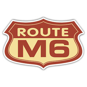 Route-M6-car-sticker-funny-100mm-wide
