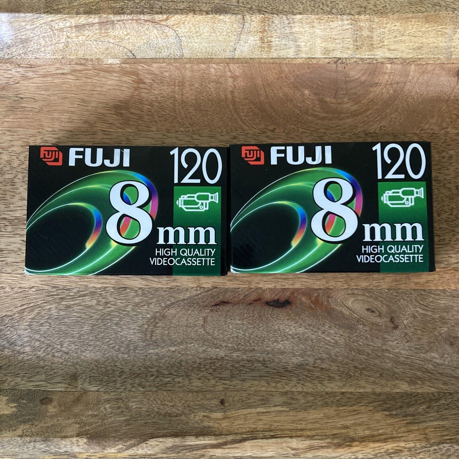 FUJI 8mm 120 P6-120 High Quality Video Cassette Lot of 2