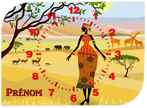 horloge-pendule-murale-afrique-personnalisee-prenom-au-choix-ref-F-54