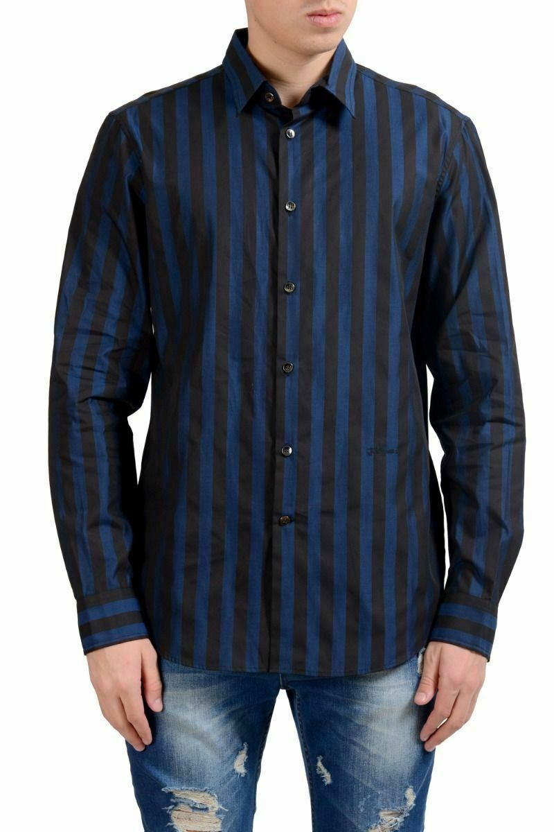 Just Cavalli Men's Striped Casual Shirt Size XS M XL 2XL