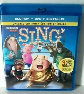 Sing-Blu-ray-DVD-Movie-Illumination-Special-Edition-VG-Mint-Discs-2017