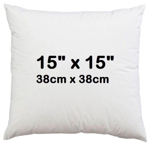 """15/"""" X 15/"""" pouces Coussin Tampon interne Polyester intérieur de comblement Inserts-Pack de 6"""