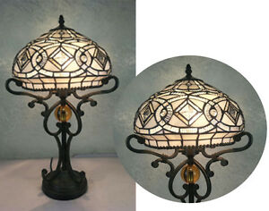 Silver-Effect-Beautiful-Tiffany-Style-Handcrafted-Table-Lamp
