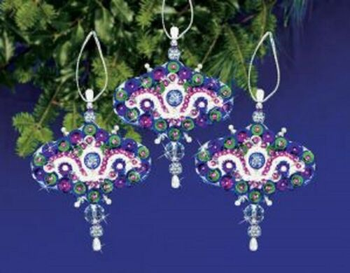 "/""Royal Elegance/"" beaded ornament kit makes3 NIP"
