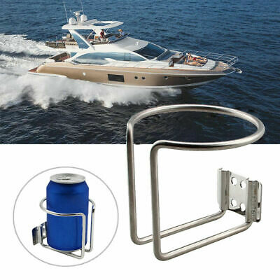 DasMarine Stainless Steel Boat Ring Drink Holder Cup Holder with Anti-Collision Rubber Protective Sleeve for Marine Yacht Truck RV Trailer