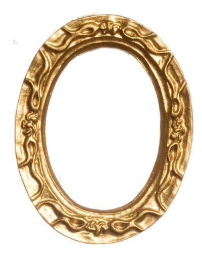 Dollhouse Miniature Oval Gold Resin Frame