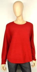 in girocollo gr selezionabile grande Via Appia moda Pullover rosso fuoco alla 4SwCCIHxqU