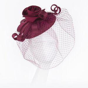 Image is loading Janeo-Headwear-Fascinator-Hat-Pillar-Box-Style-Satin- ee61f373b31