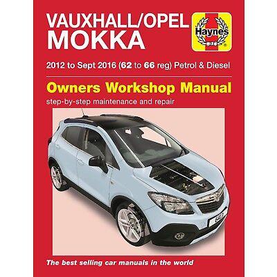 Vauxhall Opel Mokka 2012 - Sep 2016 Petrol & Diesel Haynes Manual 6413