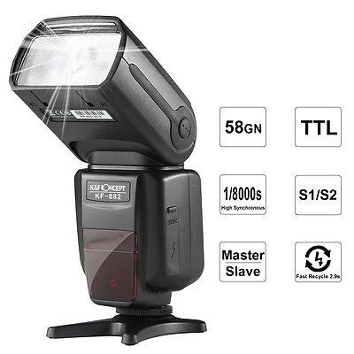 K&F Concept KF-882 Flash i-TTL HSS Wireless Speedlite 1/8000s Master for Nikon